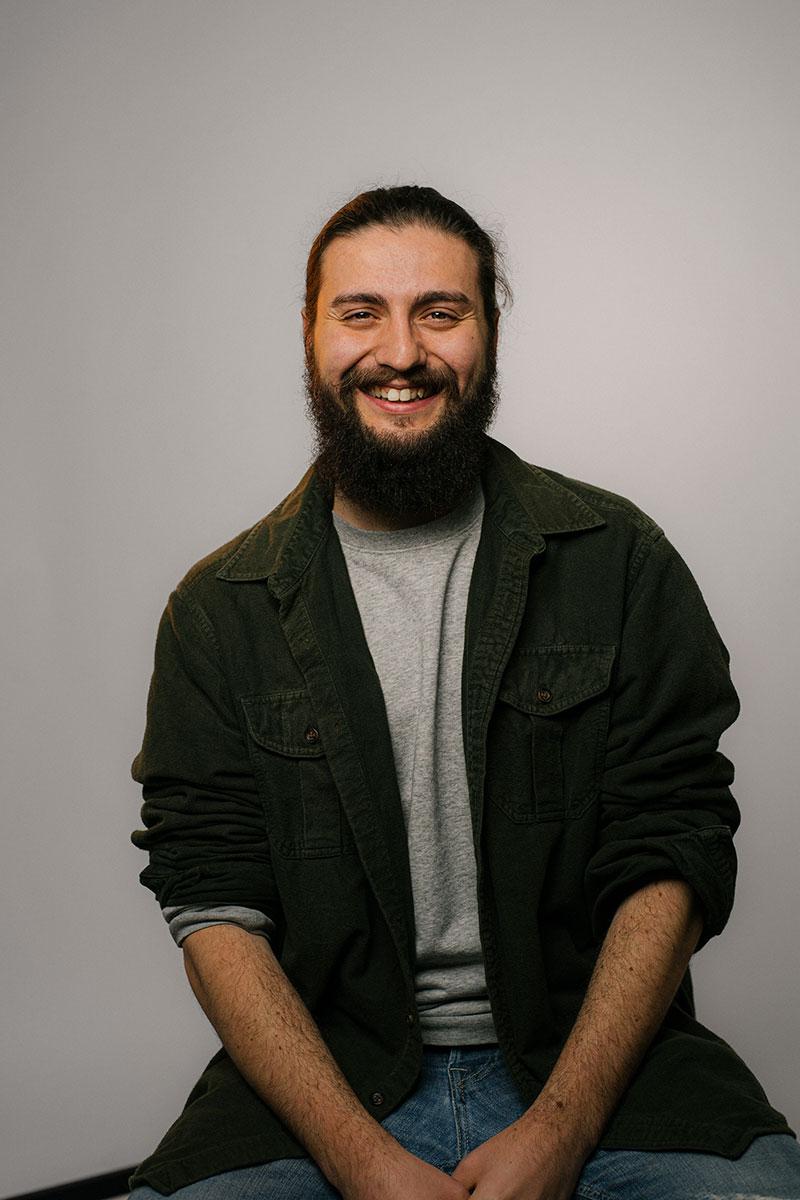 Portrait von Adrian im Studio